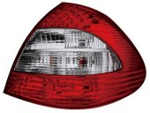 E-Class W211 Red Clear LED OEM Tail Lights 07-09