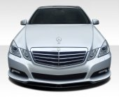 E-Class W212 Front Lip Spoiler With Carbon Diffusor 2010-2013