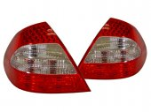 E-Class W211 Facelift Red Clear LED Tail Lights 03-06